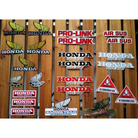Kit Com 24 Adesivos Originais Moto Honda Mod Antigo Raridade