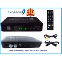Kit 2xconversor Tv Sinal Analógico Digital Gravador Full Hd
