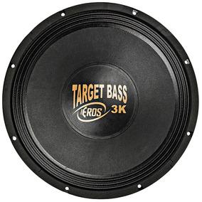 Alto Falante Eros Woofer 15 Pol 1500w Rms Target Bass 3.0k
