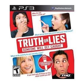 Jogo Da Verdade Truth Or Lies Playstation Ps3 Divertidissimo
