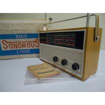 Lindo Rádio (sonorous) **dec. De 60 Nunca Usado**