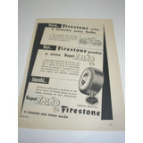 ( L - 290 ) Propaganda Antiga Pneu Balão Firestone