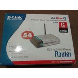 Router Wifi Dlink, 4 Puertos Lan, Con Cables(sin Caja Origin
