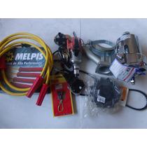 Alternador 75a Cromado+ignição Elet+cabo Velas 10mm Fusca