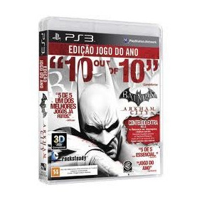 Jogo 3d Batman Arkham City Game Of The Year Edition Para Ps3
