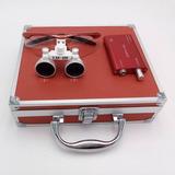Lupas Binoculares P/ Cirugia 3,5x 420 Con Gabinete Alum.