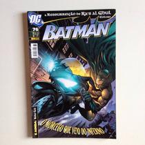Hq Dc Batman O Morcego Que Veio Do Inferno Nº76