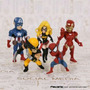 Lote De Bonecos Miniaturas Marvel Wolverine Homem Aranha