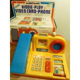 Antiguo Juego Electronico, Kiddie Play Video Card Phone,1993
