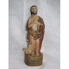 761 - São João Batista Séc Xix/xx Gesso Antigo Arte Sacra