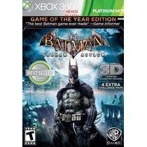 Jogo Batman Arkham Asylum Platinum Hits 3d Para Xbox 360