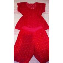 Conjunto De Short Y Blusa Color Rojo