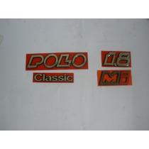 Emblema Nome Polo Classic 1.8 Mi Kit Com As 4 Peças