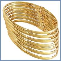 Semanario Dama En Oro Amarillo 10k Solido 7 Pulseras Acc
