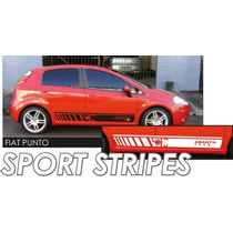 Faixas Laterais Abarth Team P/ Punto / Tuning Carro