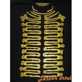 Camiseta Michael Jackson Jaqueta Dourada Manga Longa Lanarte