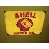 Placas Antigas Fusca Shel Texaco Ford Esso Retro