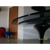 Mesa Eero Saarinen De Jantar Oval 1.80 X 1.00 Tampo Vidro