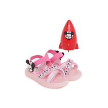 Sandalia Papete Menina Infantil Minnie Chuveirinho Rosa 5571