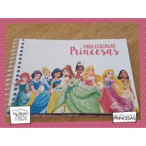 Souvenir Evento Libro Colorear Personalizado Princesa Disney