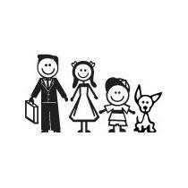 Adesivo Família - Decoração, Parede, Portas, Carro.