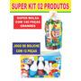 Kit Bolsa Super Blocks C/ 140 Pçs + Jogo De Boliche 12 Peças