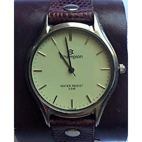 Relógio Champion Pulseira De Couro