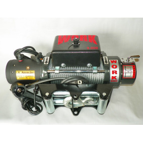 Guincho Eletrico Off Road, Work 9000lbs, 4100kgf, 12 Volts
