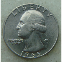 425 Eua Moeda Quarter Dollar 1965 Sem Letra 24mm