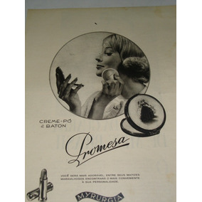 Propaganda Antiga Creme Pó & Baton Promesa De 1963