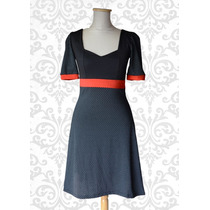 Vestido Pin Up Diseño Verano Lunares - Le Chat Noir