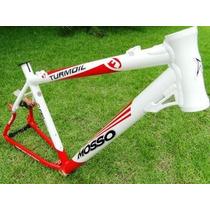 Quadro Bicicleta Alum. Mosso Turmoil 26 T19 Bco/verm 011391