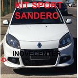 Kit Sport Renault Sandero 2012 2013 Sem Aerofolio Saia