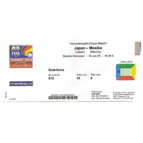 Ingresso Copa Confederações 2005 Japão X Mexico 16/06