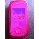 Capa Case Tpu Nokia 7230 Rosa + Película De Tela - Premium