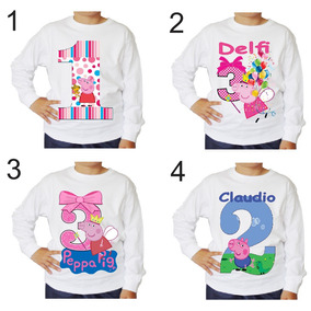 Remeras De Peppa Pig & George Exclusivo Diseño Personalizado