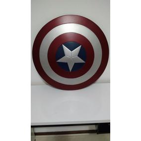 Escudo Capitão América Em Fibra Com Alças De Couro - Custom