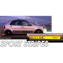 Faixas Laterais Abarth Team P/ Palio / Tuning Carro