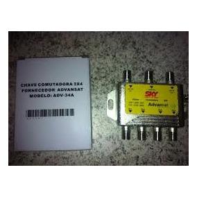 10 Chaves Comutadora 3x4 Amplificada Advansat 603491 Sky