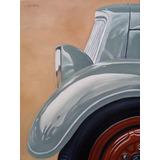 Hot Rod Ford 35 - Quadro Pintura Ost Tela Carro Antigo