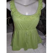 Blusinha Em Malha Verde De Marca Tam P