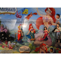 New 05 Bonecos Pequena Sereia Ariel Disney Little Mermaid