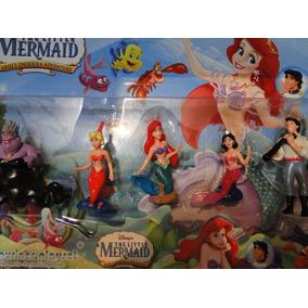 New 05 Bonecos Pequena Sereia Ariel Disney Little Mermaid