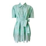 Vestido Verde Água Em Laise Lezi Lesie - Lindo!!!