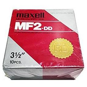 Caja De 10 Diskettes 3 1/2 Nuevos En Celofan - Maxell Mf2-dd