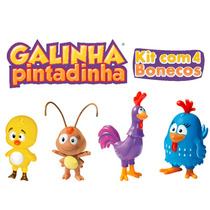 Bonecos Turma Da Galinha Pintadinha Pronta Entrega Cl29