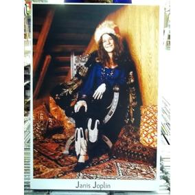 Janis Joplin Lindo Quadro Artesanal Madeira