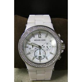 60081a25e3878 Michael Kors Mk 5391 Cerâmica Glitz White Original - Relógios De ...