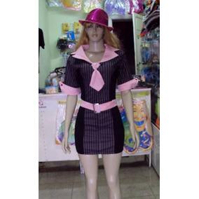 Fantasia Gangster Adulto Veste 38 A 40 Carnaval Festa Linda