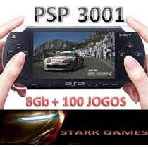 Psp Slim Sony 3001 Destravado+memory 8gb+100 Jogos+ Cabo Usb